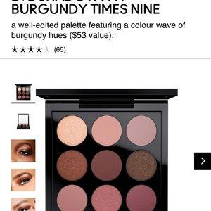 NEW MAC Burgundy Times Nine Eyeshadow Palette